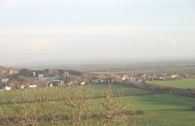 View to South of Bleadon Village from Purn Hill