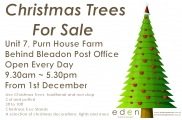 Christmas Trees from 1st December click for details on poster