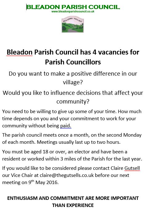 BPC Councillor Vacancy Advert