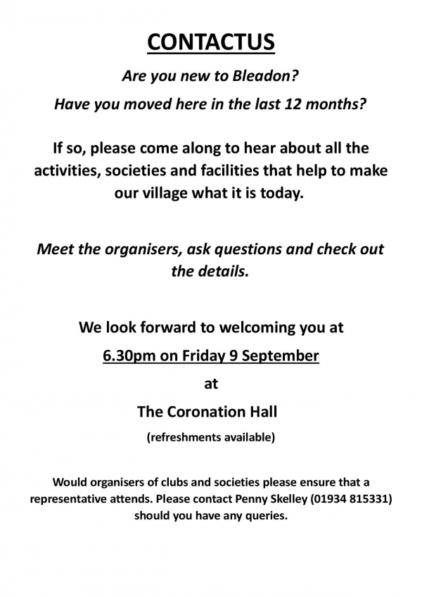 ContactUs Meeting for new residents