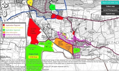 Major Development in and around Bleadon Map
