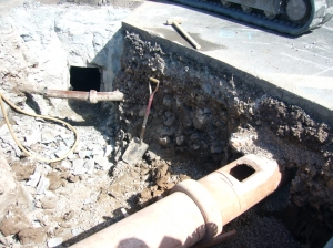 View of connection to main sewer
