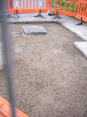 final hole filled with concrete