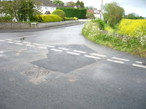 Final tarmac finish at Bleadon/Bridge Roads junction
