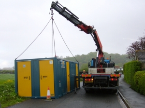Final removal of Portable Cabin of the workforce, 7th May 2015