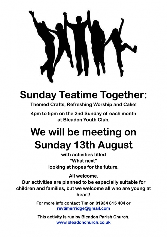 Sunday Teatime Together August 17