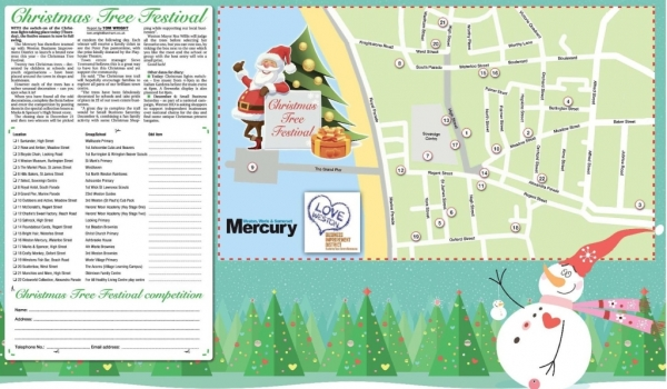 Click for PDF version of The Christmas Tree Trail Map