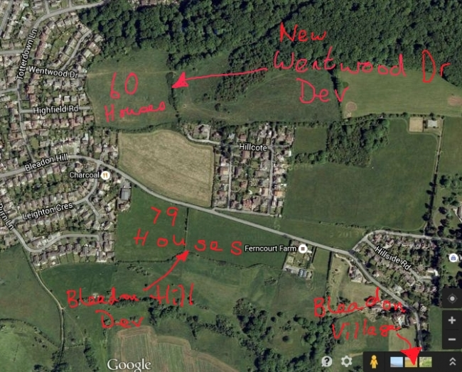 Proposed Bleadon Hill Housing Developments