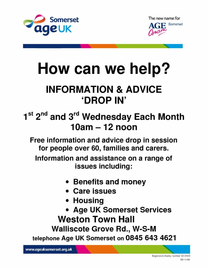 AgeUK Somerset -Information & Advice
