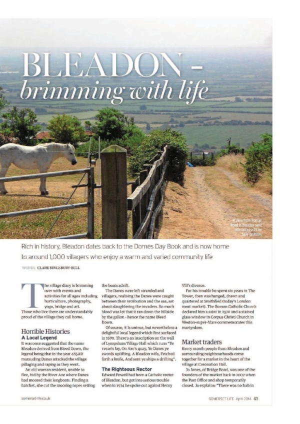 Somerset Life Magazine Article - April 2014