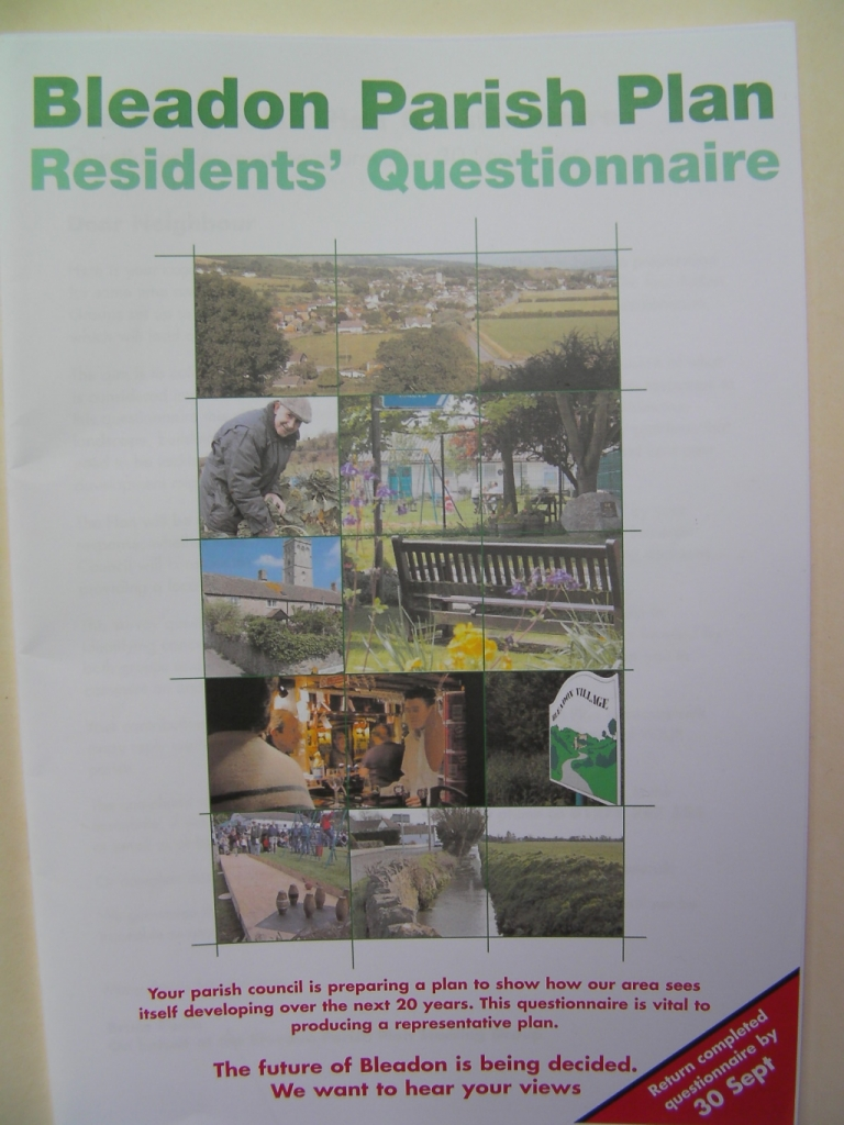 Questionnaire Front Page
