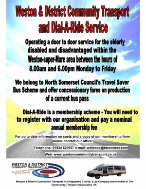 Weston & District Community Transport - Dial-A-Ride